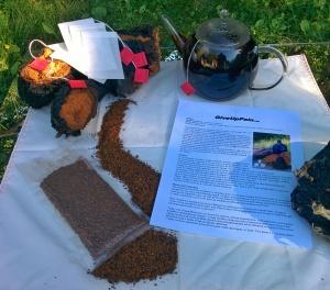 Our hand harvested, wild Chaga Tea kit